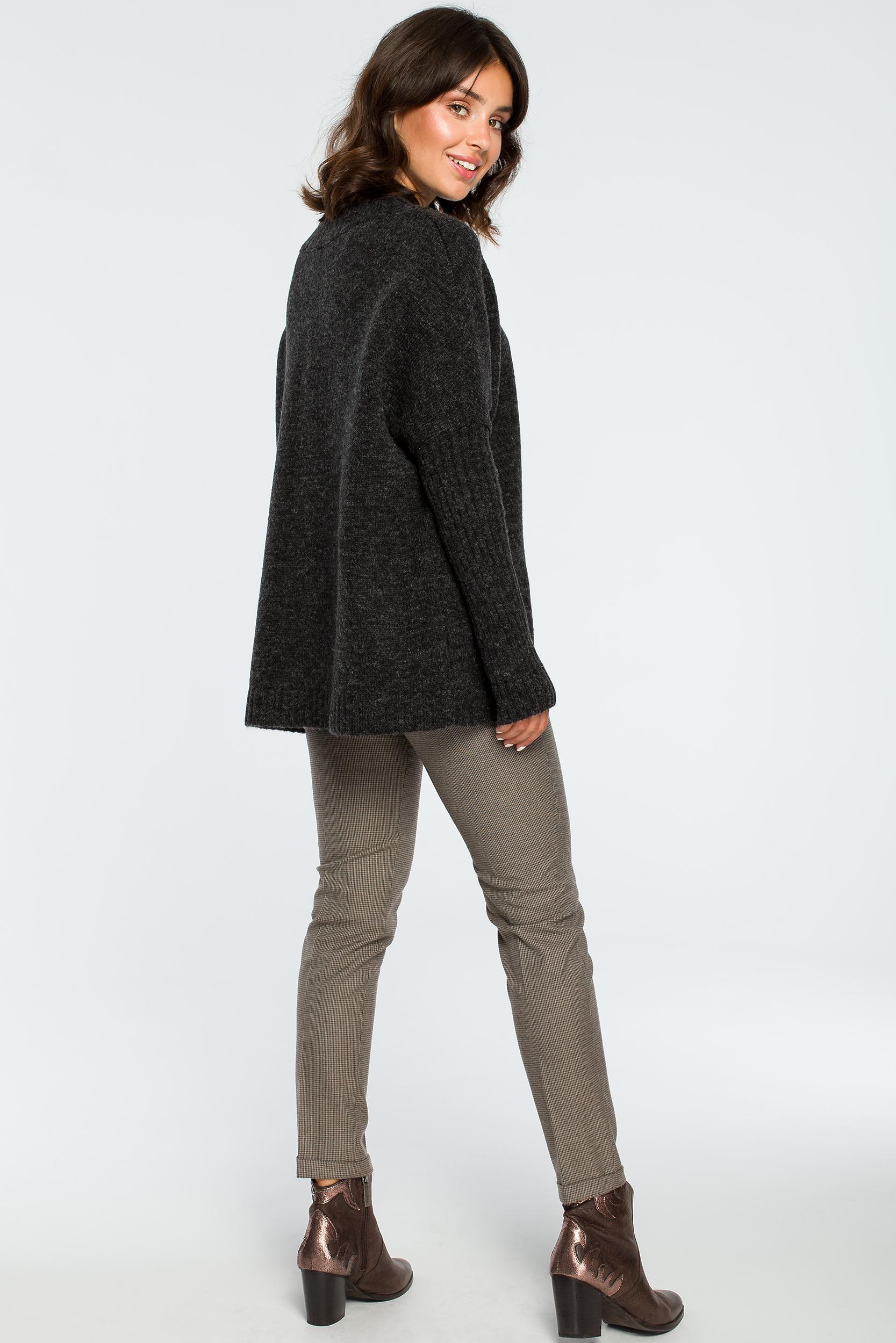 Pullover in Anthrazit Rückansicht komplett