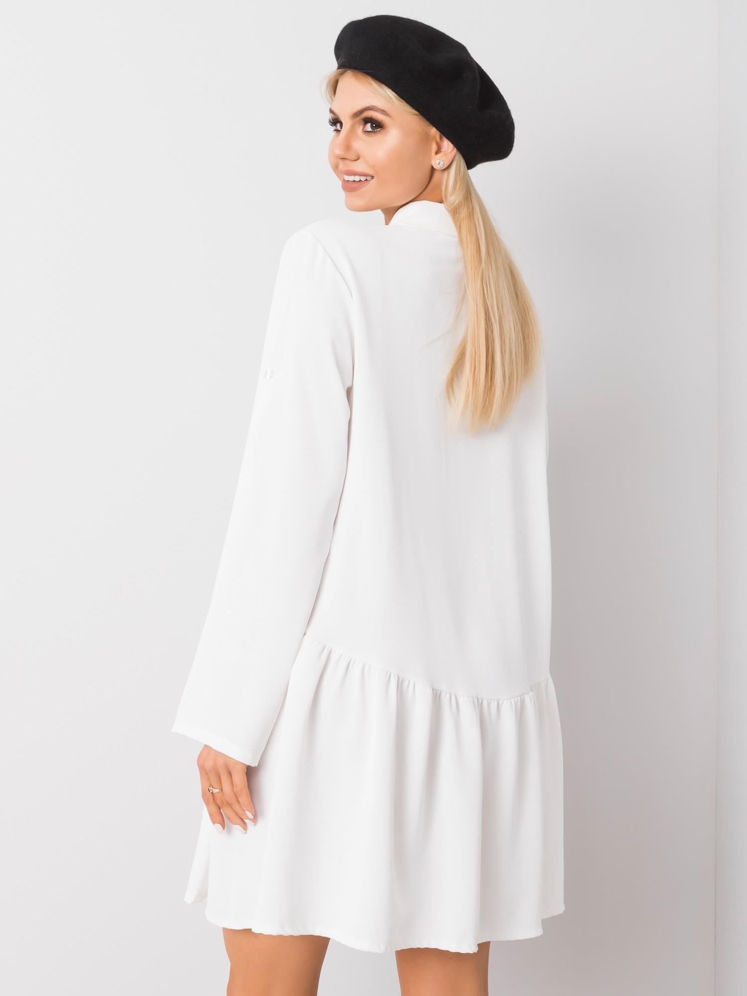 Minikleid in Weiß Rückansicht