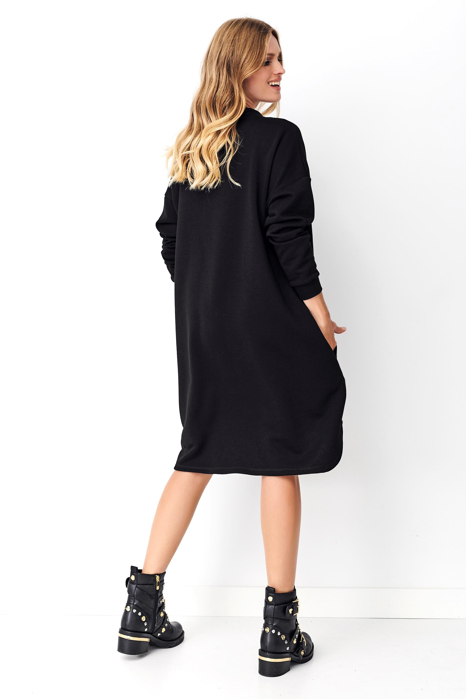 Schwarzes Sweatshirt Kleid