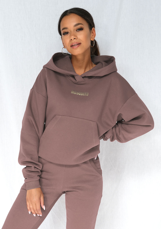 Hoodie in Coffee Brown