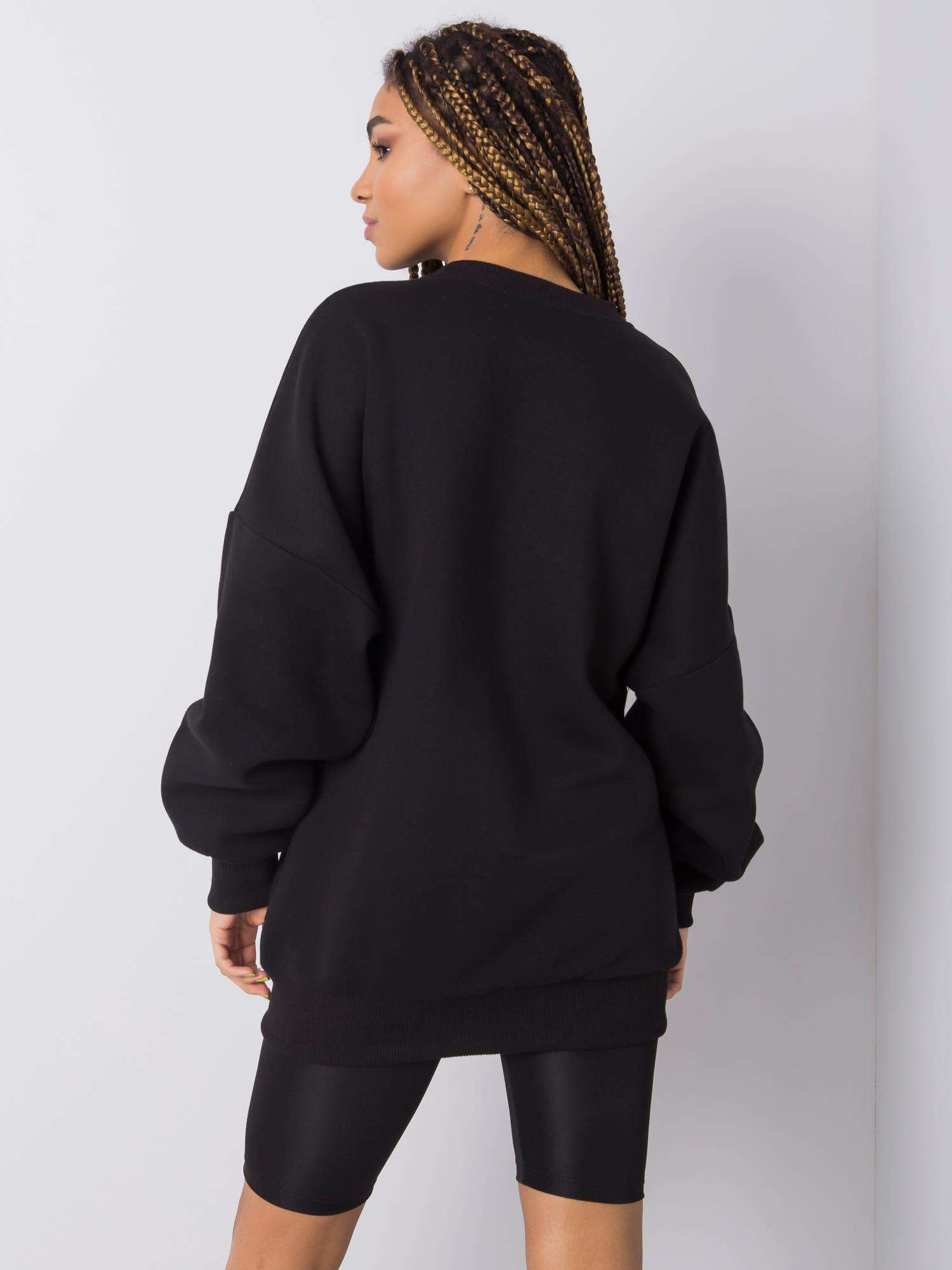 Sweatshirt in Schwarz mit Aufdruck Rückansicht