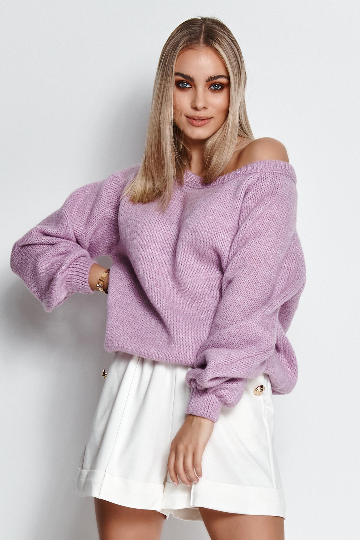 Sweater in Lila Vorderansicht