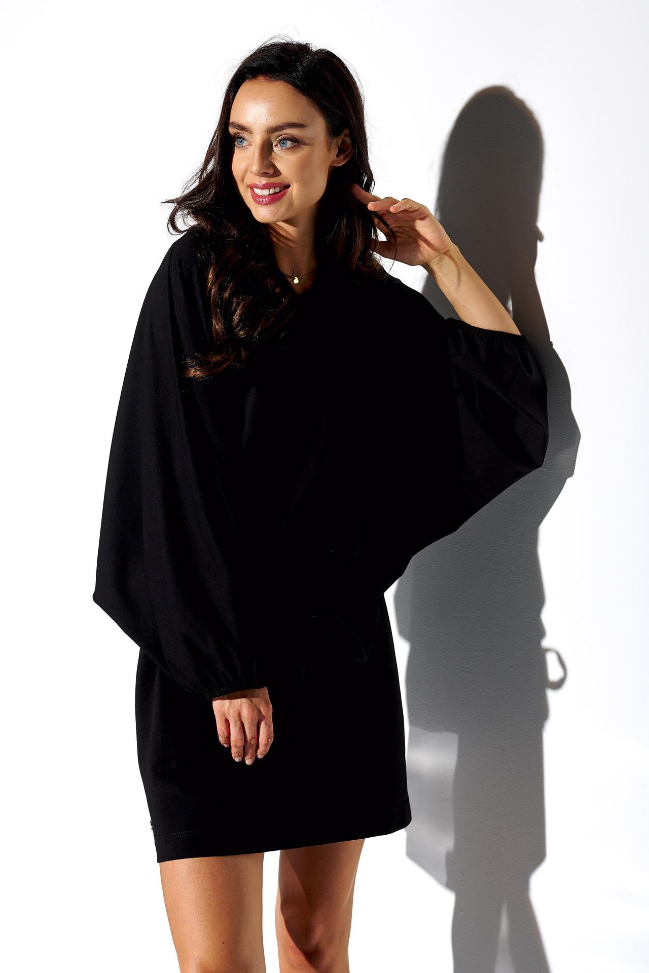 Sweatshirt Kleid in Schwarz
