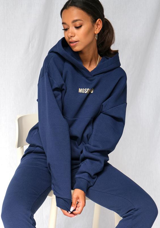 Sweatshirt-Hoodie in Navy