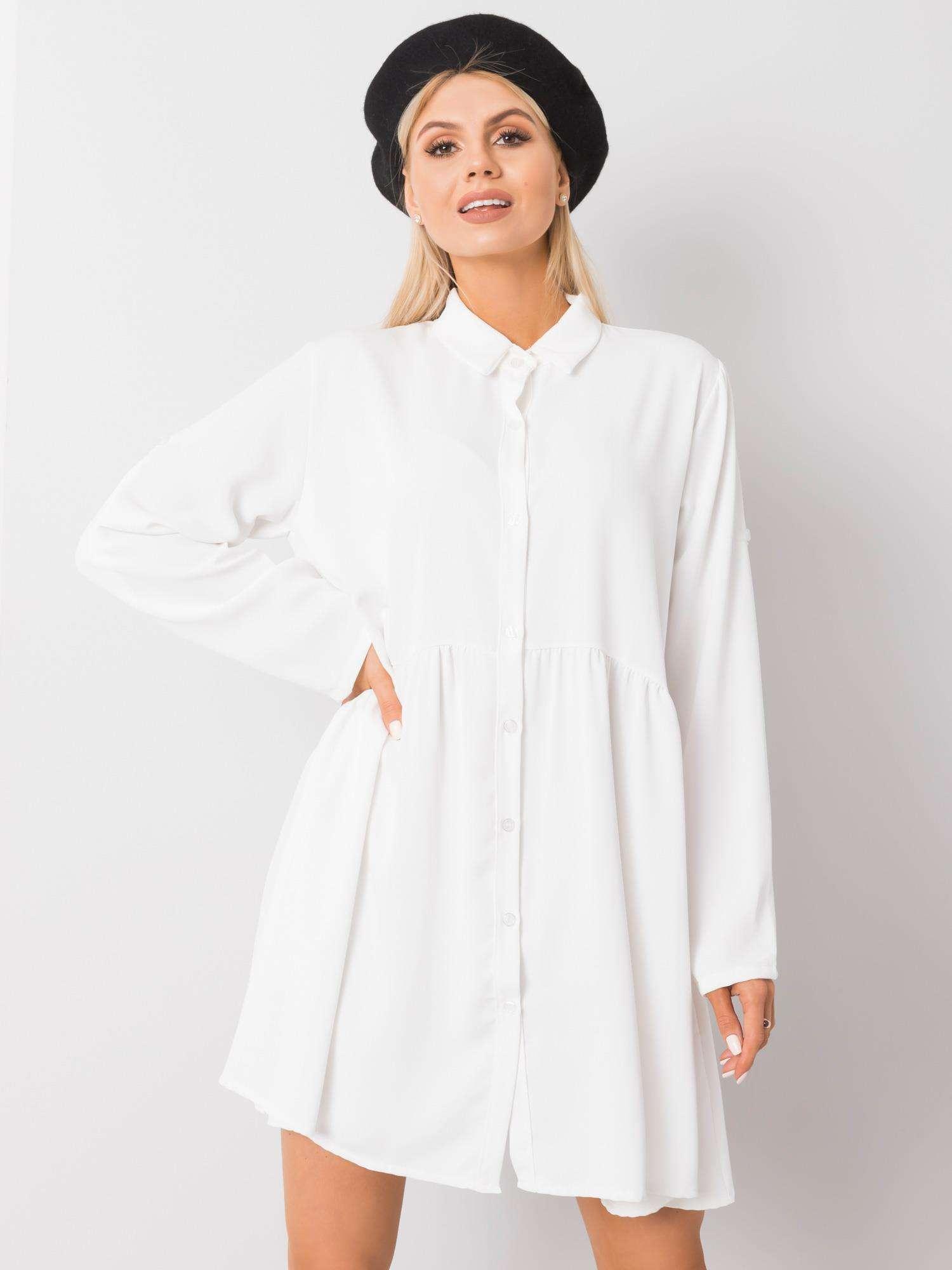 Minikleid in Weiß Vorderansicht