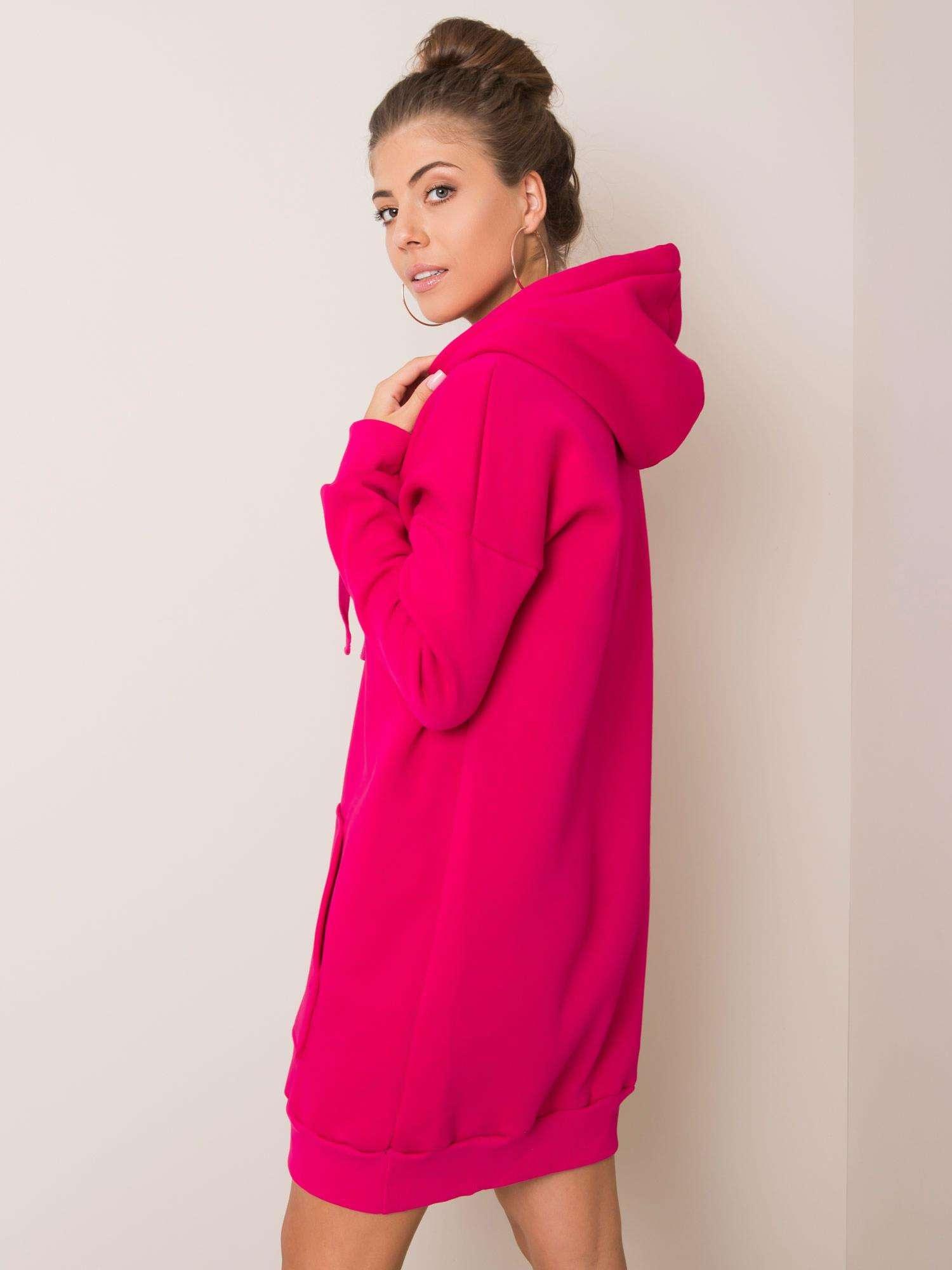 Sweatshirt Kleid in Pink Rückansicht