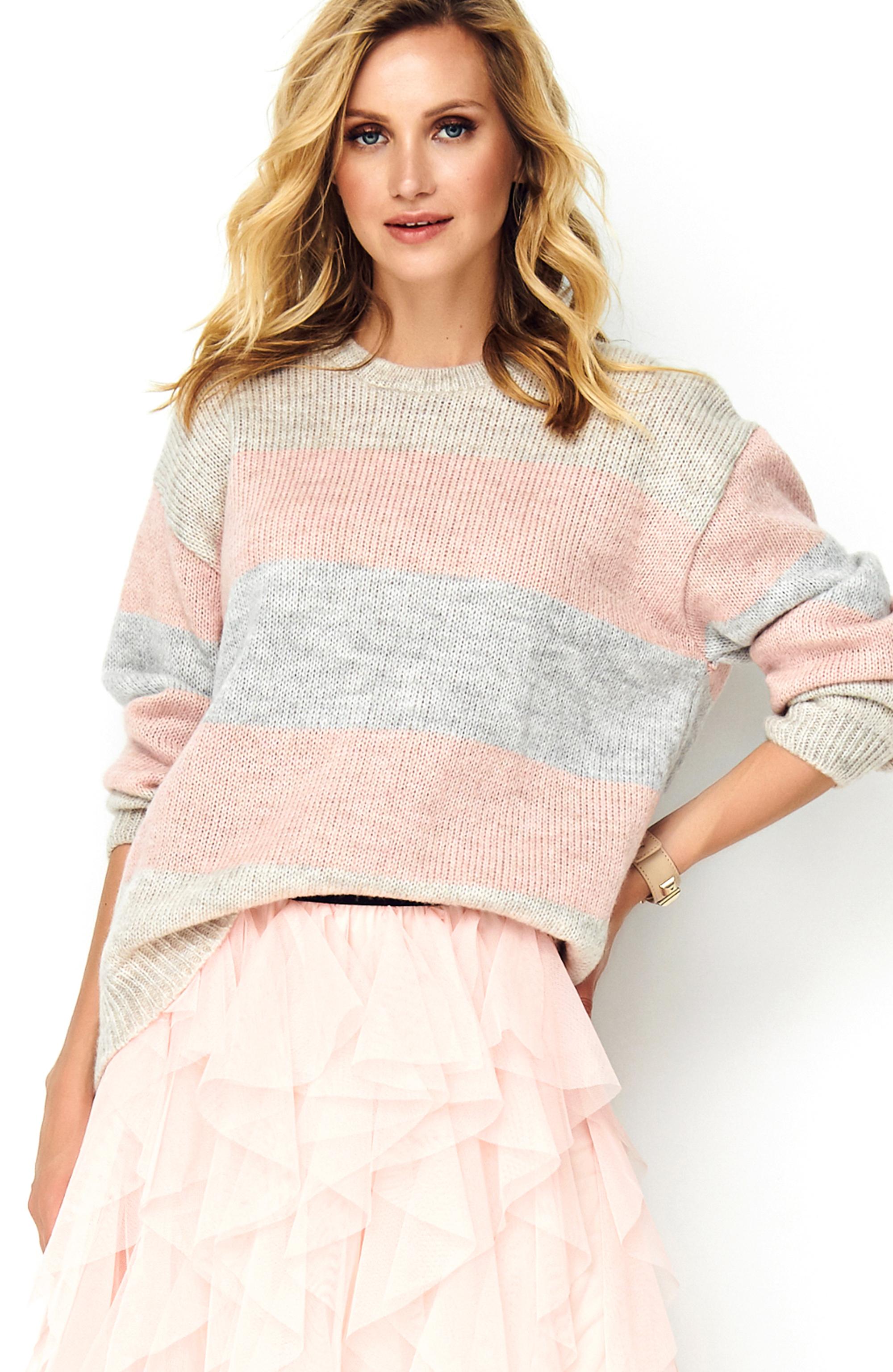 Sweater dreifarbig gestreift Vorderansicht