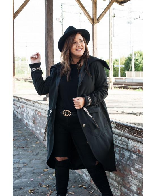 Mantel in Schwarz Vorderansicht