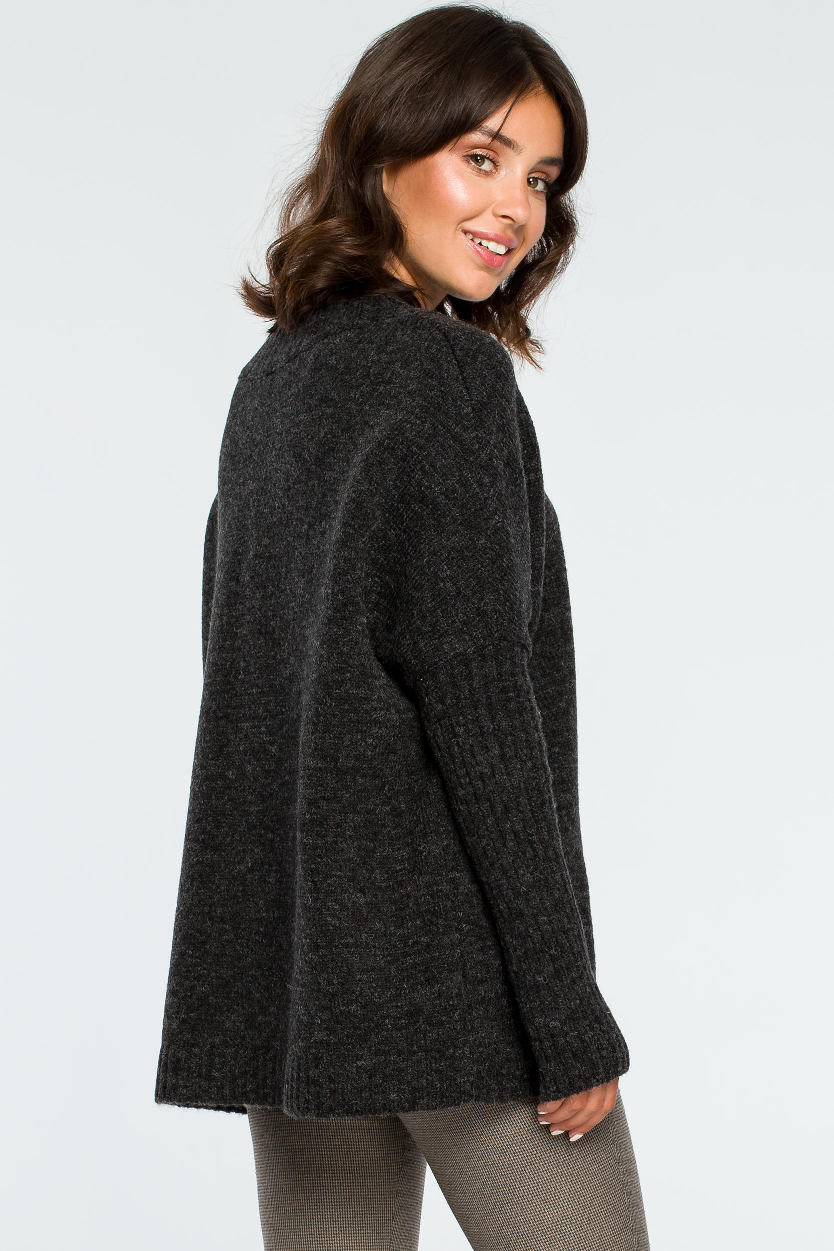 Pullover in Anthrazit Rückansicht
