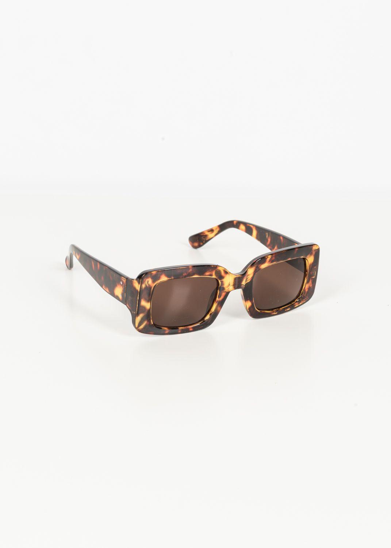 Eckige Mode-Sonnenbrille mit Leoprint