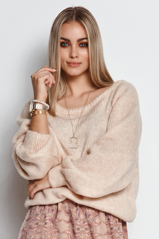 Sweater in Hellbeige Vorderansicht