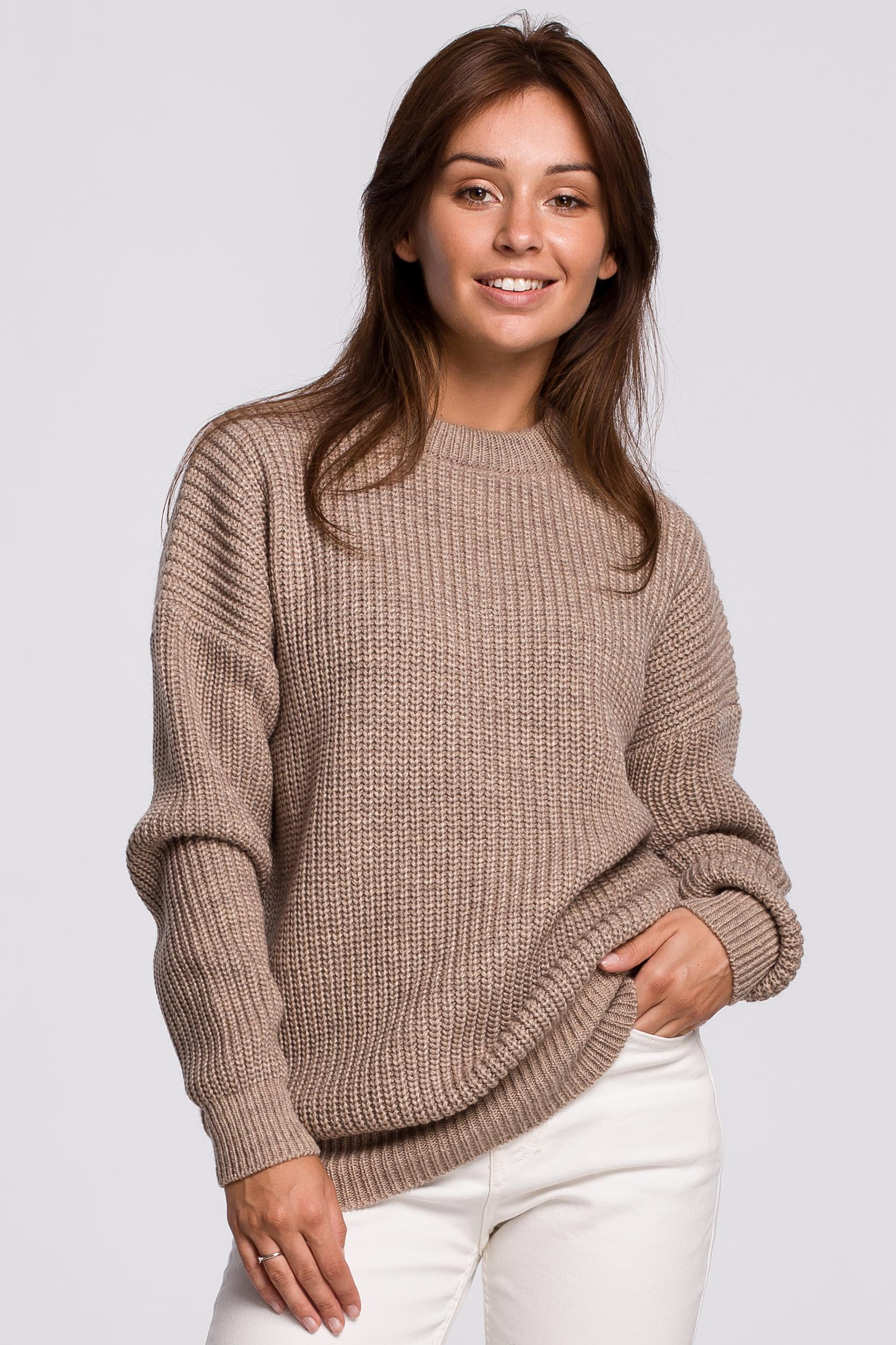 Sweater in Cappuccino Vorderansicht