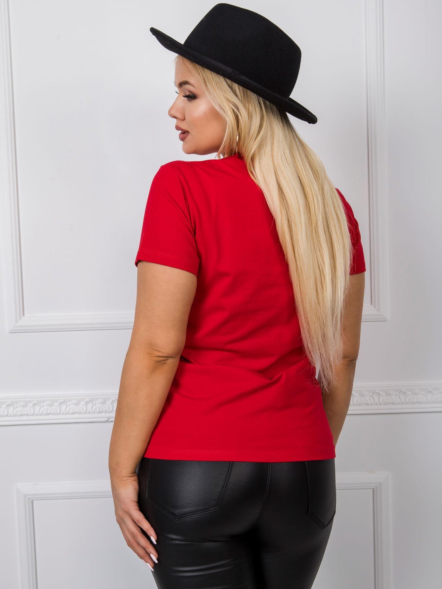 T-Shirt in Rot Rückansicht