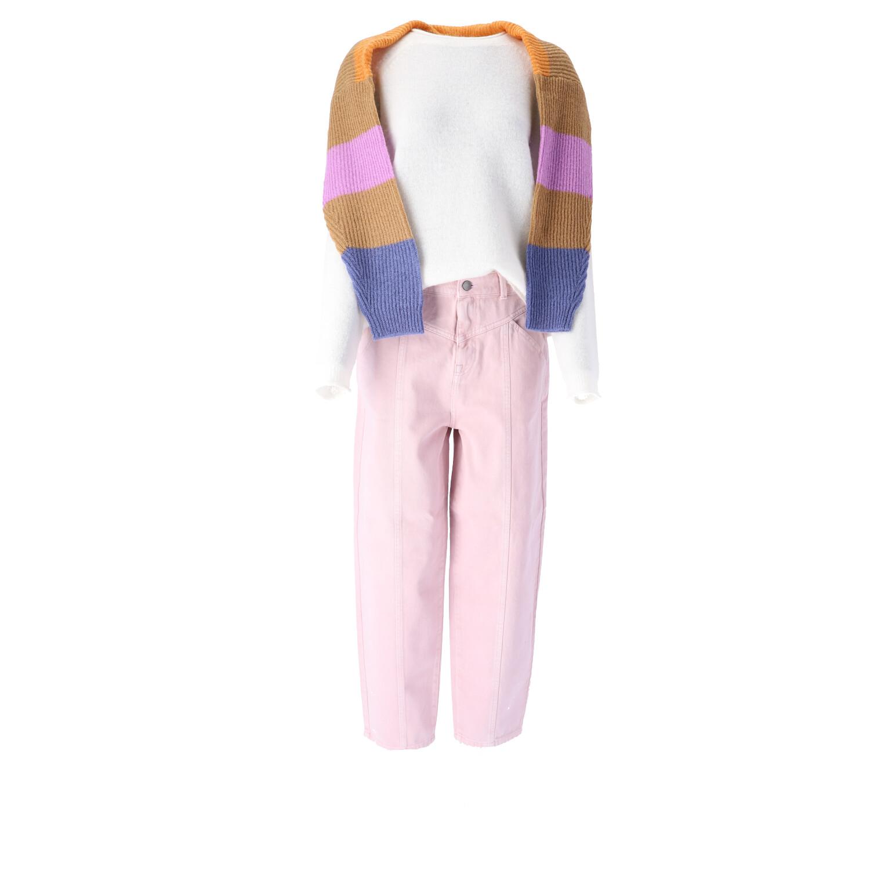 Outfitbeispiel in Rosa Weiß Vorderansicht