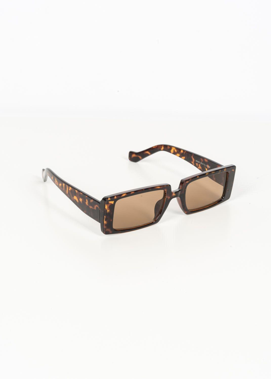 Eckige Mode-Sonnenbrille im Retrodesign mit Leoprint
