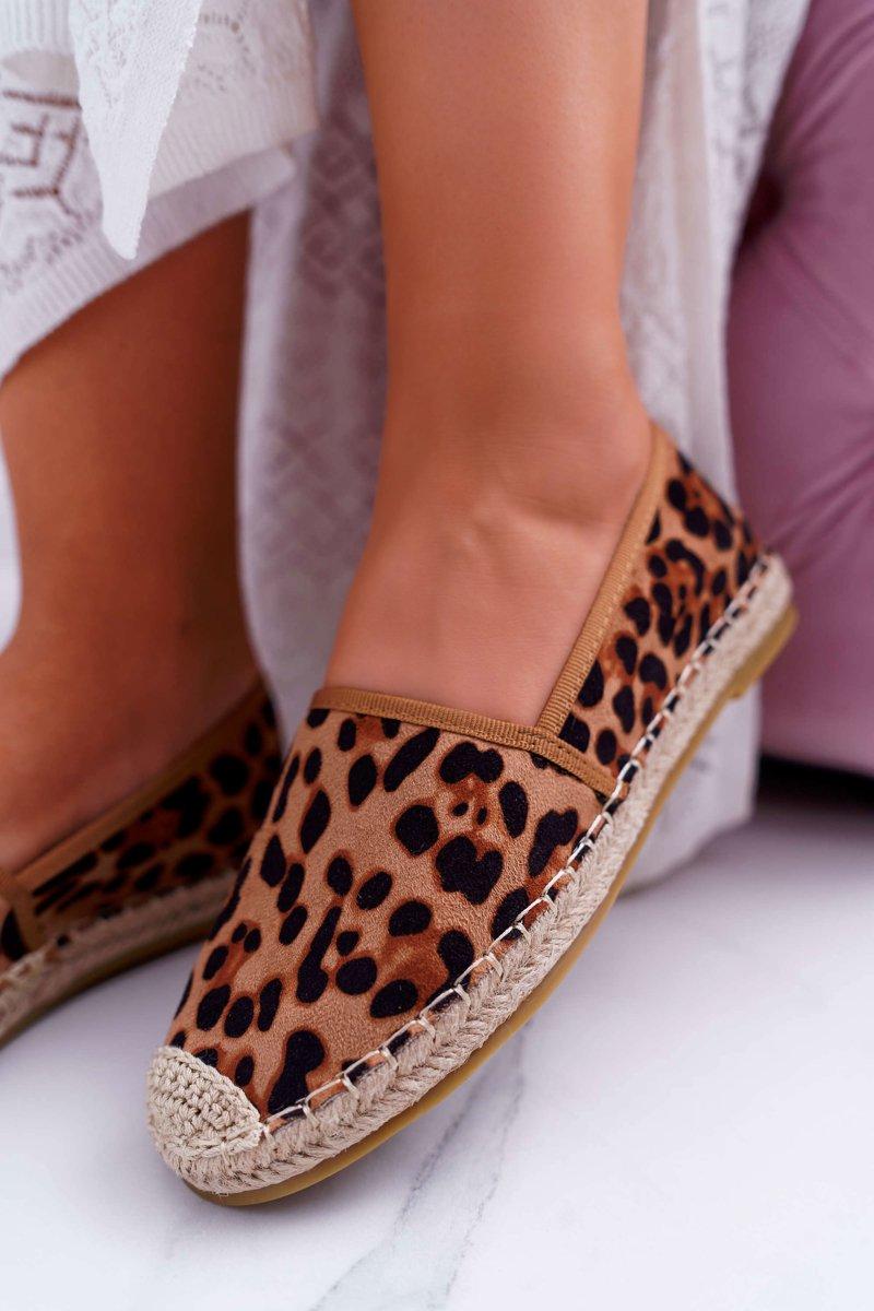 Espadrilles in Wildlederoptik mit Leopard-Jungle Print
