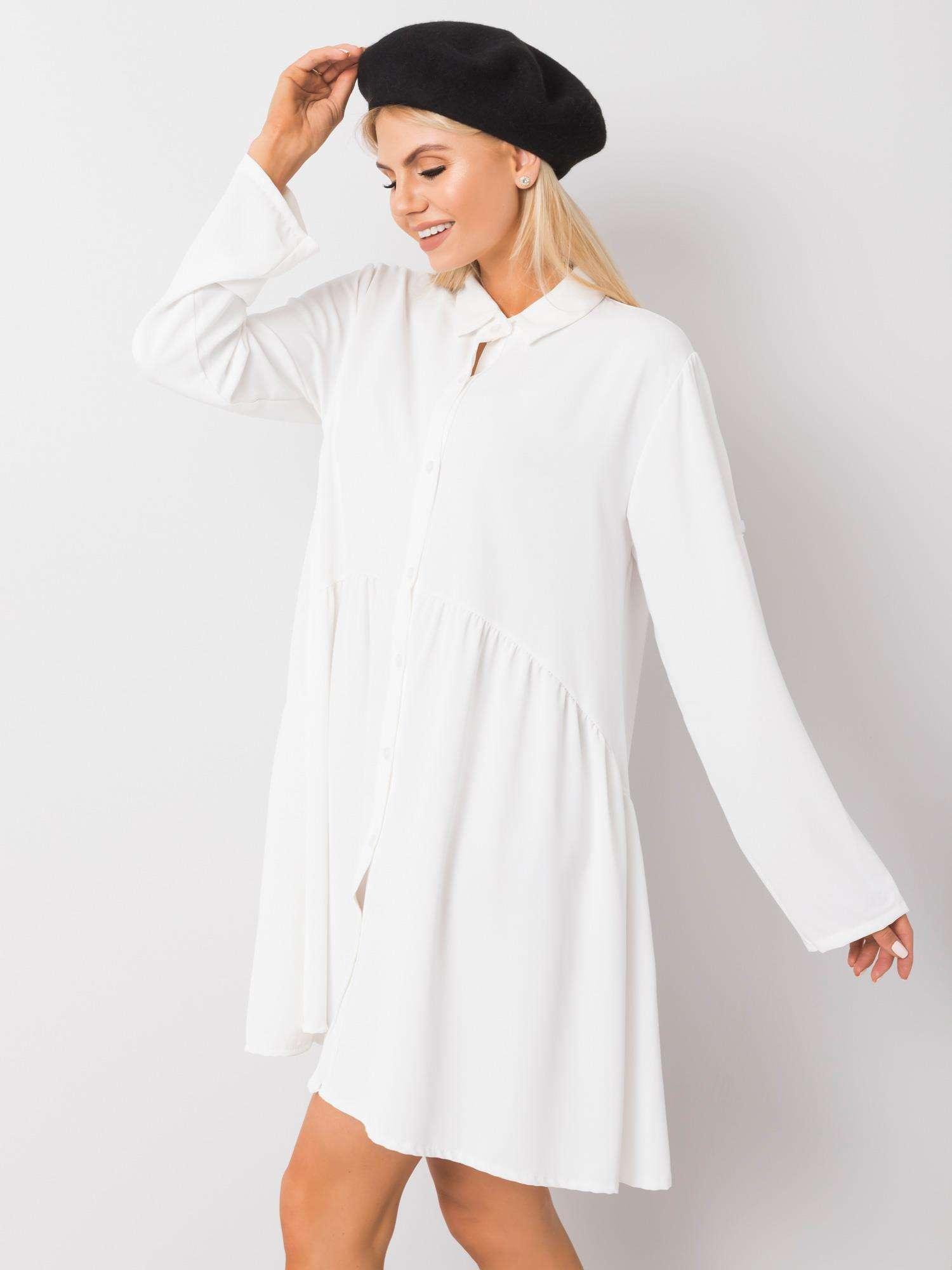 Minikleid in Weiß Seitenansicht