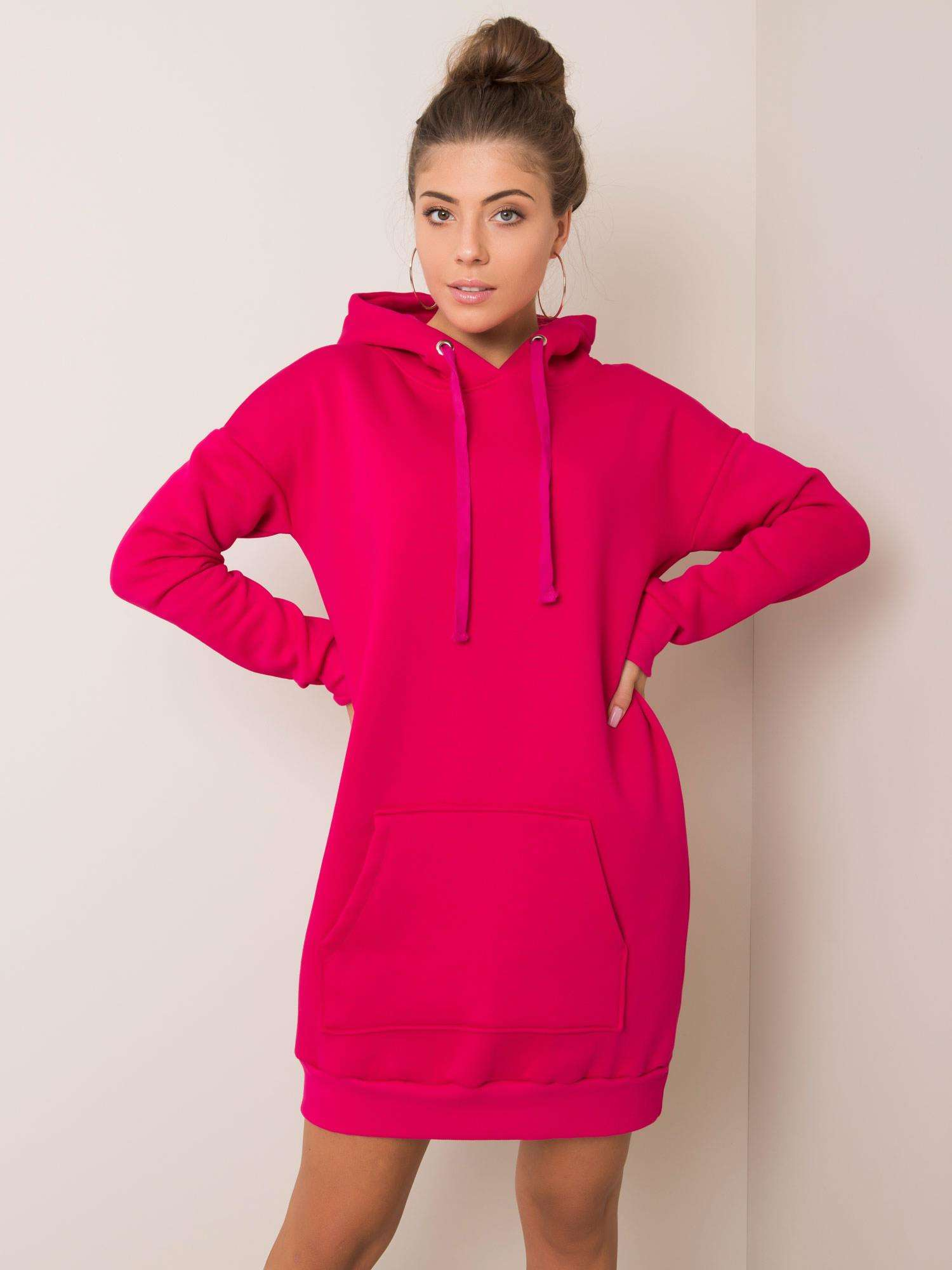 Sweatshirt Kleid in Pink Vorderansicht