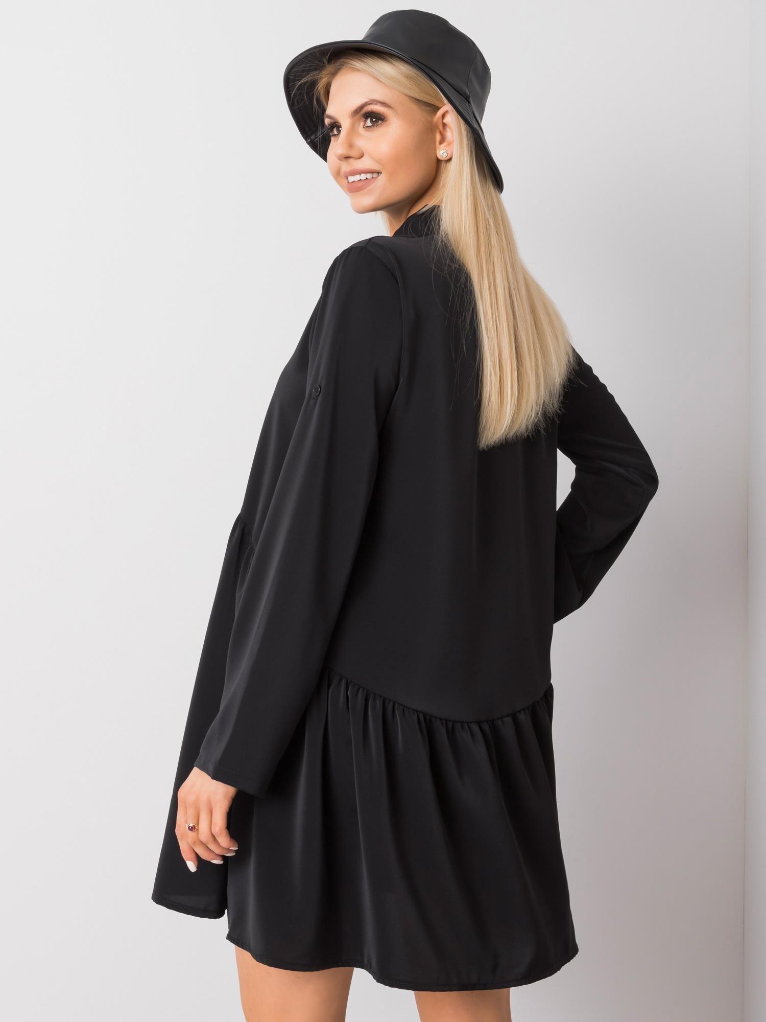 Minikleid in Schwarz mit verspieltem Look Rückansicht