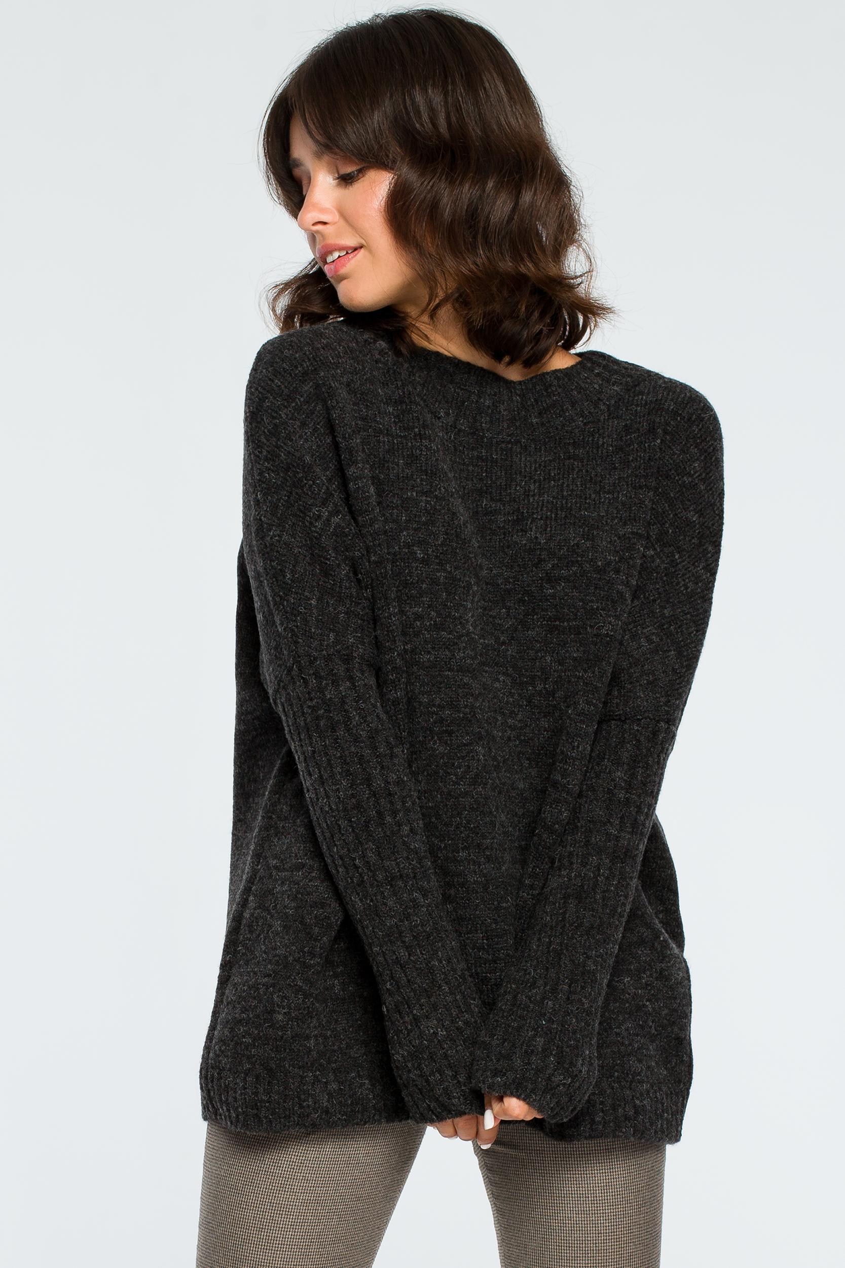 Pullover in Anthrazit Vorderansicht