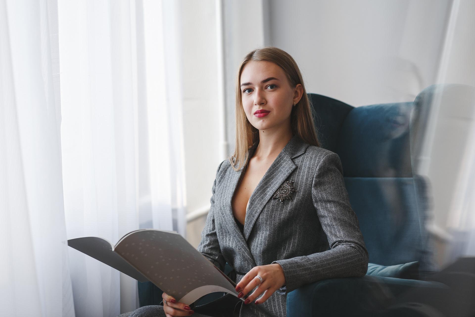 Home-Office Out  in grau für Frauen